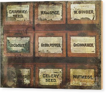 Old Spice Wood Print by Colleen Kammerer