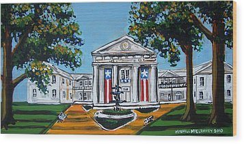 Old State House Wood Print by Mitchell McClenney