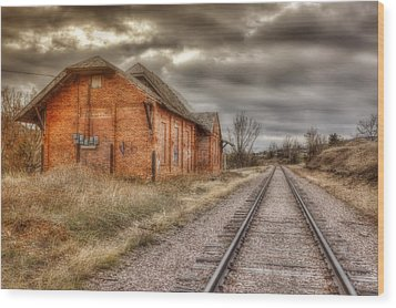 Old Station Wood Print by Michele Richter