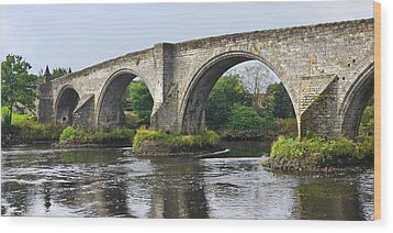 Old Stirling Bridge Scotland Wood Print by Jane McIlroy