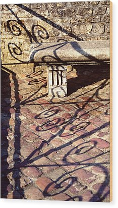 Wood Print featuring the photograph Old Stone Bench by Mary Bedy