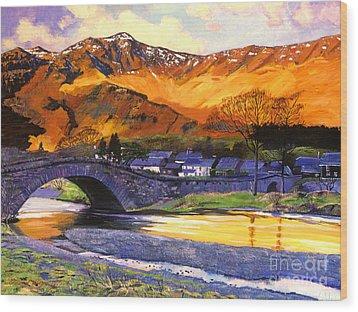 Old Stone Bridge Wood Print by David Lloyd Glover