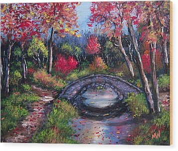 Old Stone Bridge Wood Print by Megan Walsh