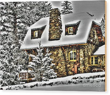 Old Stone Building Wood Print