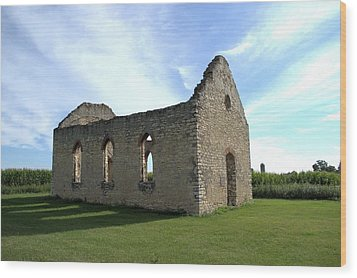 Old Stone Church 2 Wood Print by Bonfire Photography