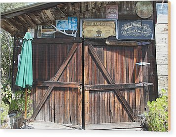 Old Storage Shed At The Swiss Hotel Sonoma California 5d24457 Wood Print by Wingsdomain Art and Photography