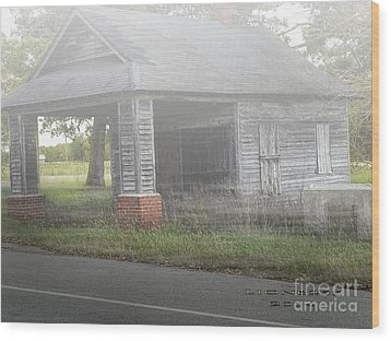 Wood Print featuring the digital art Old Store by Melissa Messick