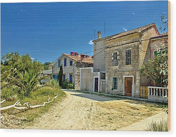 Old Streets Of Susak Island Wood Print by Brch Photography