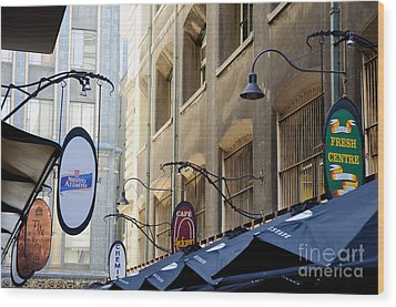 Old-style Signs Above A Melbourne Laneway Wood Print by David Hill