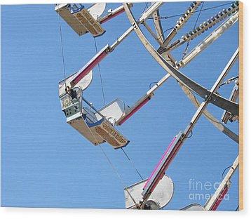 Old Time Ferris Wheel Wood Print by Ann Horn