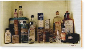 Old-time Remedies Wood Print