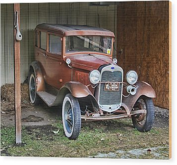 Wood Print featuring the photograph Old Timer II by Victor Montgomery