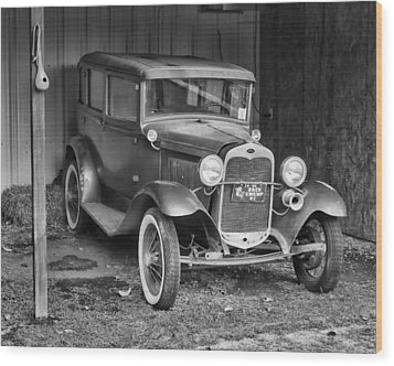 Wood Print featuring the photograph Old Timer by Victor Montgomery