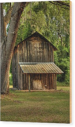 Old Tobacco Barn Wood Print