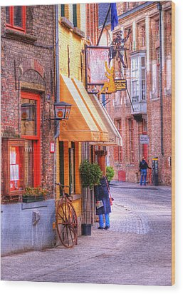 Old Town Bruges Belgium Wood Print by Juli Scalzi