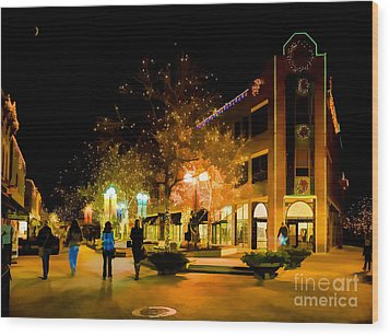 Old Town Christmas Wood Print by Jon Burch Photography