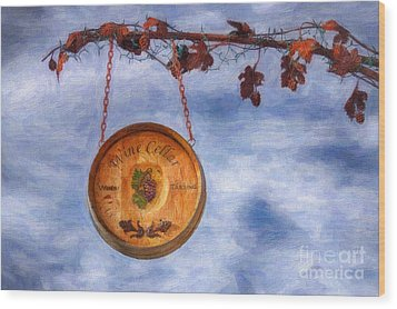 Verde Valley Wine Trail Wood Print by Priscilla Burgers