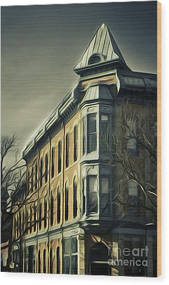 Old Town Fort Collins Wood Print by Julieanna D