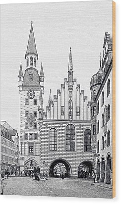 Old Town Hall - Munich - Germany Wood Print by Christine Till