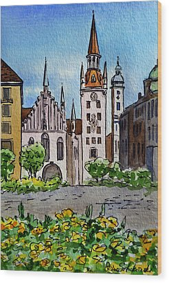 Old Town Hall Munich Germany Wood Print by Irina Sztukowski