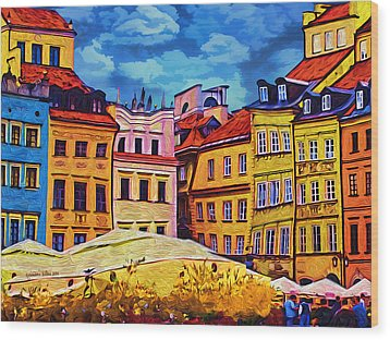 Old Town In Warsaw #1 Wood Print by Aleksander Rotner