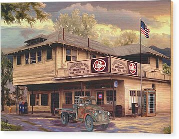 Old Town Irvine Country Store Wood Print