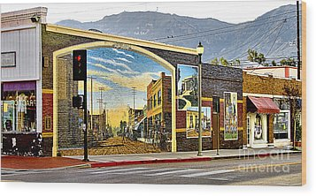 Wood Print featuring the photograph Old Town Mural by Jason Abando