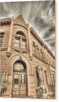 Old Town Sandstone Wood Print by JulieannaD Photography
