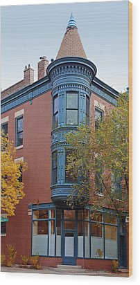 Old Town Triangle Chicago - 424 W Eugenie Wood Print by Christine Till