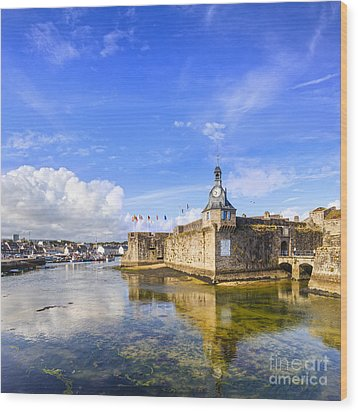 Old Town Walls Concarneau Brittany Wood Print by Colin and Linda McKie