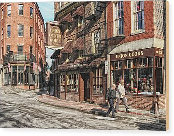 Old Towne Boston Wood Print