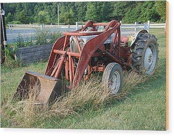 Old Tractor Wood Print by Jennifer Ancker