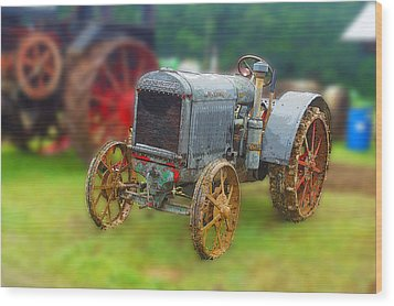 Wood Print featuring the photograph Old Tractor Print by B Wayne Mullins