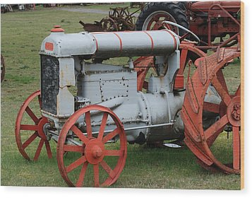 Old Tractor Wood Print by Ron Roberts