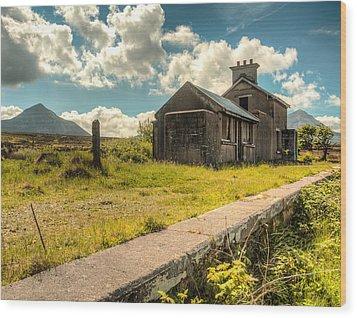 Old Train Station Wood Print by Craig Brown