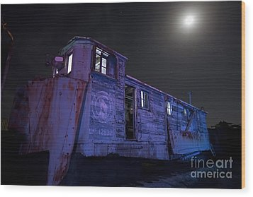 Wood Print featuring the photograph Old Train Trail Snow Plow by Keith Kapple