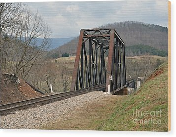 Old Train Trestle Wood Print by Brenda Dorman