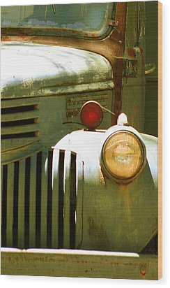 Old Truck Abstract Wood Print by Ben and Raisa Gertsberg