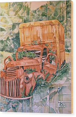 Old Truck Wood Print by Lance Wurst