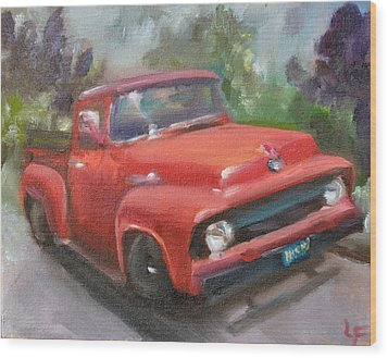 Old Truck Wood Print by Lindsay Frost