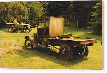Old Truck Wood Print by Sergey  Nassyrov