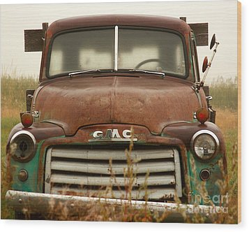 Old Truck Wood Print by Steven Reed