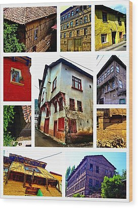 Old Turkish Houses Wood Print by Zafer Gurel