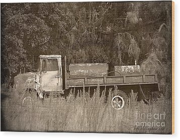 Old Tyme Truck Wood Print by Theresa Willingham