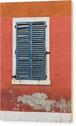 Old Venetian Window Wood Print