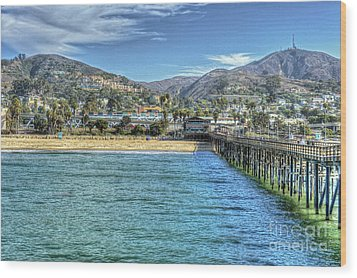 Old Ventura City From The Pier Wood Print by David Zanzinger