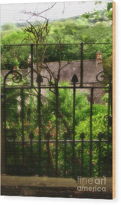 Old Victorian Gate - Peak District - England Wood Print by Doc Braham