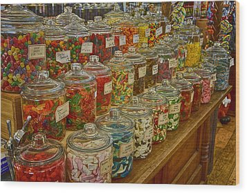 Old Village Mercantile Caledonia Mo Candy Jars Dsc04014 Wood Print