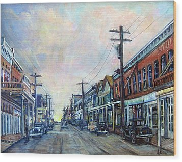 Old Virginia City Wood Print by Donna Tucker