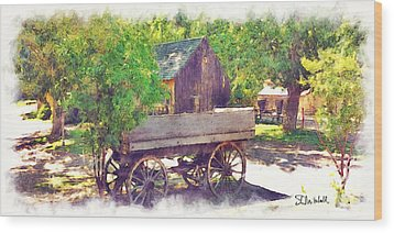 Old Wagon At Wheeler Farm Wood Print